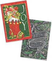 Boxed Glitter Christmas Cards